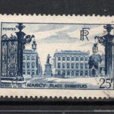 Sellos: FRANCIA 822 - AÑO 1948 - TURISMO - PLAZA STANISLAS, NANCY. Lote 179339007