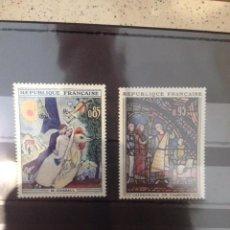 Sellos: SERIE 2 SELLOS CUADROS Y VIDRIERIAS 1963. Lote 58669818