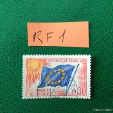 Sellos: CONSEIL DE EUROPE FRANCIA REPUBLICA FRANCESA POSTE AERIENNE. Lote 58697376