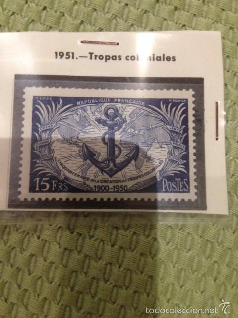 SELLO FRANCIA 1951 TROPAS COLONIALES (Sellos - Extranjero - Europa - Francia)