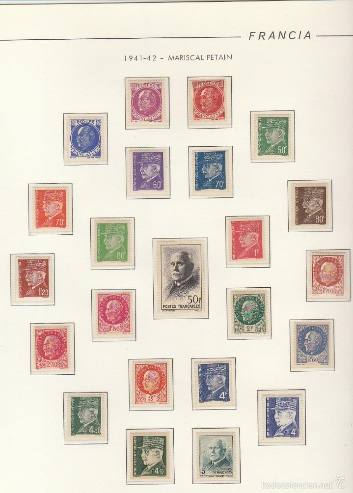 COLECCIÓN AÑOS 1850/1959 (ÁLBUMES) (Sellos - Extranjero - Europa - Francia)