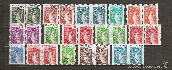 FRANCIA.1977-78. YV Nº LOTE SABINE. SERIE TAILLE-DOUCE. (Sellos - Extranjero - Europa - Francia)