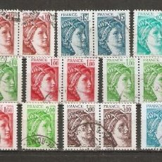 Sellos: FRANCIA.1977-78. YV Nº LOTE SABINE. SERIE TAILLE-DOUCE.. Lote 59643327