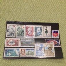 Sellos: LOTE 13 SELLOS FRANCIA SIN CIRCULAR AÑOS 1966-1967. Lote 61099647