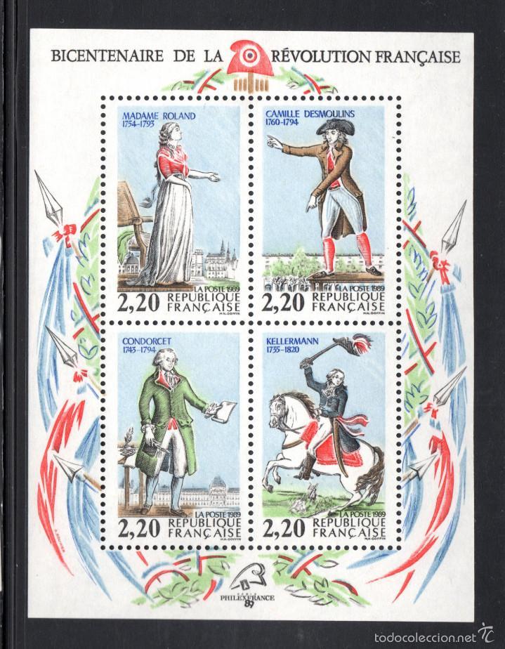 FRANCIA HB 10** - AÑO 1989 - BICENTENARIO DE LA REVOLUCION FRANCESA - PERSONAJES (Sellos - Extranjero - Europa - Francia)