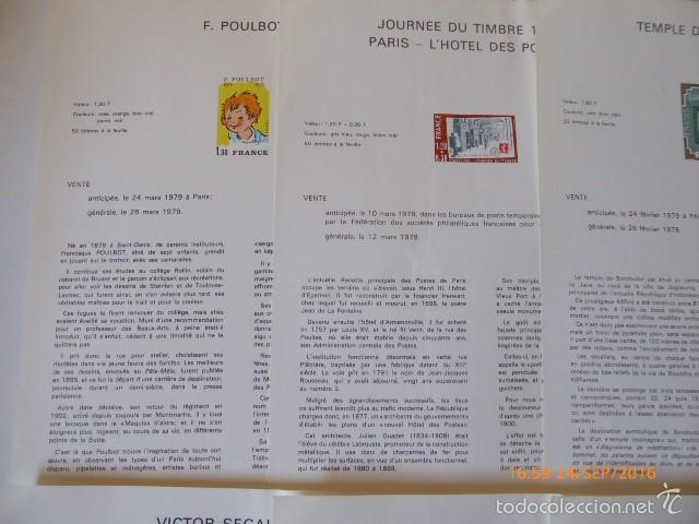 Sellos: francia documentos oficiales de 1979 y andorra, - Foto 2 - 61271039