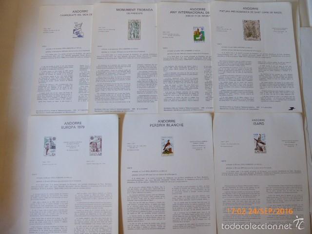 Sellos: francia documentos oficiales de 1979 y andorra, - Foto 7 - 61271039