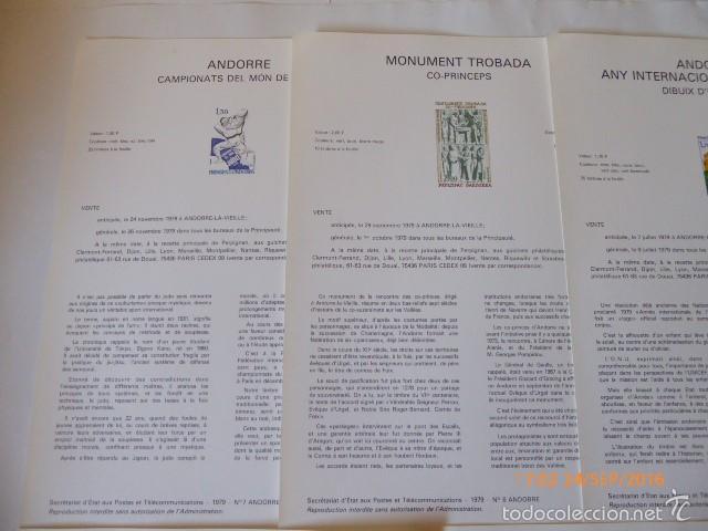 Sellos: francia documentos oficiales de 1979 y andorra, - Foto 8 - 61271039