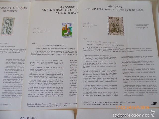 Sellos: francia documentos oficiales de 1979 y andorra, - Foto 9 - 61271039