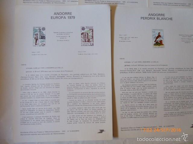 Sellos: francia documentos oficiales de 1979 y andorra, - Foto 10 - 61271039