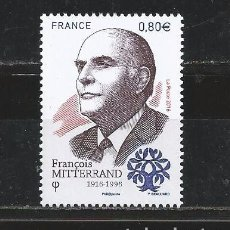 Sellos: FRANCE 2016 - FRANÇOIS MITTERRAND MNH. Lote 191823587
