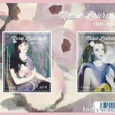 Sellos: FRANCE 2016 - MARIE LAURENCIN SOUVENIR SHEET MNH. Lote 191823676