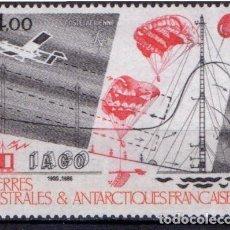 Sellos: TAAF ANTARTIDA FRANCESA 1986 AEREO IVERT 95 *** LA INVESTIGACIÓN CIENTIFICA EN T.A.A.F.. Lote 68504321
