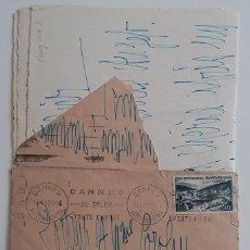 Sellos: 1950 * CARTA DE CANNES A BARCELONA . Lote 68977065