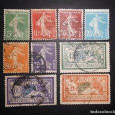 Sellos: FRANCIA SEMBRADOR 1907 A 1920 SERIE COMPLETA USADA. Lote 71148621