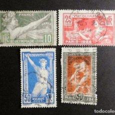 Sellos: FRANCIA JUEGOS OLIMPICOS 1924 SERIE COMPLETA USADOS. Lote 71308819