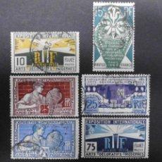 Sellos: FRANCIA 1924 - 1925 EXPOSICION INTERNACIONAL DE ARTE MODERNO SERIE COMPLETA USADA. Lote 71348739