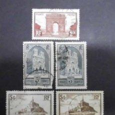 Sellos: FRANCIA 1929 - 1931 MONUMENTOS Y SITIOS USADOS. Lote 71400055