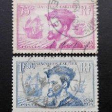 Sellos: FRANCIA 1934 CUARTO CENTENARIO DE LA LLEGADA DE JACQUES CARTIER . Lote 71406871