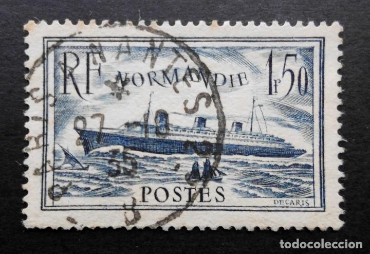 FRANCIA 1934 - 1936 NAVE NORMANDIA YVERT 299 (Sellos - Extranjero - Europa - Francia)