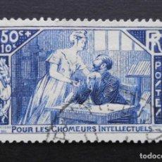 Sellos: FRANCIA 1935 PARA BENEFICIO DE LOS INTELECTUALES EN PARO YVERT 307 USADO. Lote 71412735