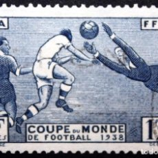 Sellos: SELLO 1,75 FRANCOS FRANCIA USADO COPA DEL MUNDO DE FÚTBOL 1938 FRANCE. Lote 71727579