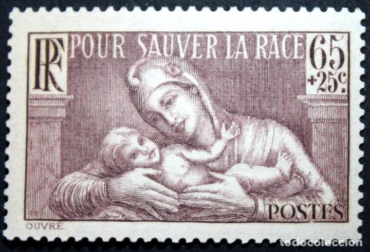 SELLO 65C+25C 1936 FRANCIA POUR SAUVER LA RACE NUEVO FRANCE (Sellos - Extranjero - Europa - Francia)