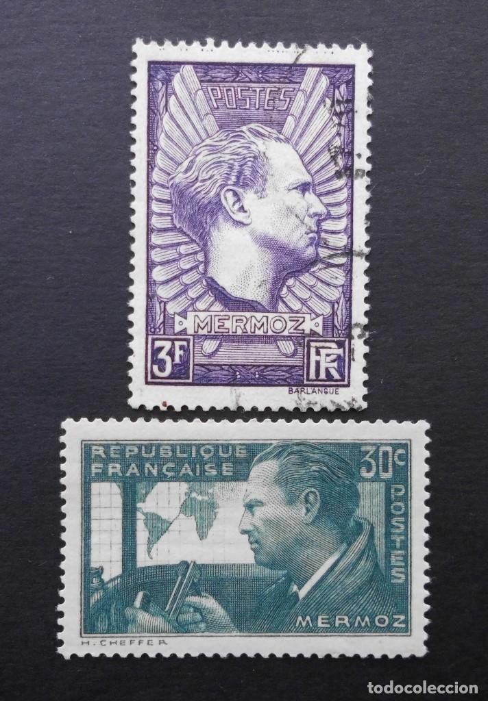 FRANCIA 1937 PRIMER ANIVERSARIO DE LA MUERTE DE JEAN MERMOZ (Sellos - Extranjero - Europa - Francia)