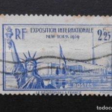 Sellos: FRANCIA 1939 EXPOSICION INTERNACIONAL DE NEW YORK YVERT 426 USADO. Lote 72075159