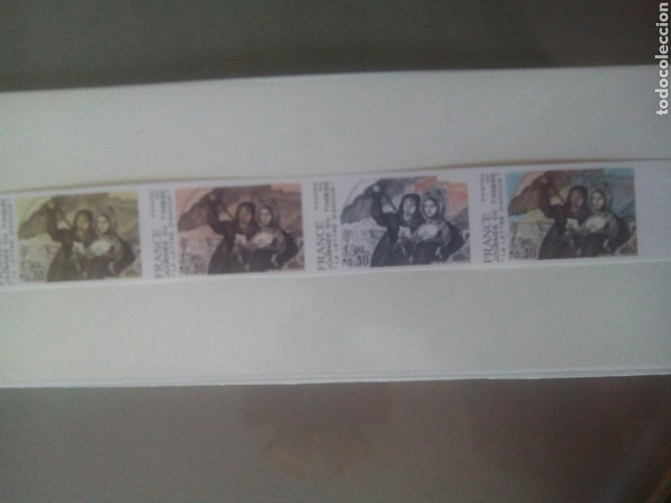 Sellos: Goya sello Francia ivert 2124, 4 sellos prueba de color la carta de amor dia del sello 1981 - Foto 5 - 72569457
