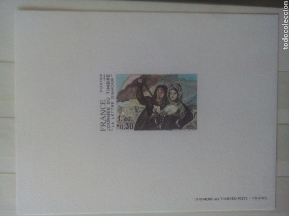 GOYA SELLO FRANCIA IVERT 2124 SELLO, SIN DENTAR Y PRUEBA LA CARTA DE AMOR DIA DEL SELLO 1981 (Sellos - Extranjero - Europa - Francia)