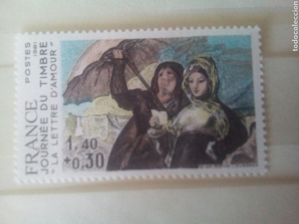 Sellos: Goya sello Francia ivert 2124 sello, sin dentar y prueba la carta de amor dia del sello 1981 - Foto 3 - 72572903