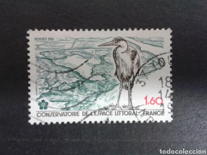 SELLOS DE FRANCIA. YVERT 2146. SERIE COMPLETA USADA. FAUNA. AVES (Sellos - Extranjero - Europa - Francia)