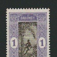 Sellos: FRANCIA.COLONIAS AFRICANAS.DAHOMEY.1913-17.- 1 CENT.YVERT 43.NUEVO CON GOMA.FIJASELLOS.. Lote 77287033