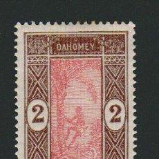 Sellos: FRANCIA.COLONIAS AFRICANAS.DAHOMEY.1913-17.- 2 CENT.YVERT 44.NUEVO CON GOMA.FIJASELLOS.. Lote 77287121