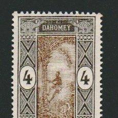 Sellos: FRANCIA.COLONIAS AFRICANAS.DAHOMEY.1913-17.- 4 CENT.YVERT 45.NUEVO CON GOMA.FIJASELLOS.. Lote 77287189