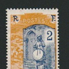 Sellos: FRANCIA.COLONIAS AFRICANAS.SOMALIA.1915-16.-2 CENT.YVERT 84.NUEVO CON GOMA.FIJASELLOS.. Lote 77619269