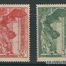 Sellos: FRANCIA 1937 YVERT 354/55** VICTOIRE DE SAMOTHRACE-MUSEES NATIONAUX. Lote 77956161