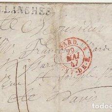 Sellos: SALLANCHES A PARIS. 1847.. Lote 79226229