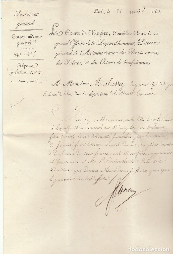 TABACS...............PARIS .1813. (Sellos - Extranjero - Europa - Francia)