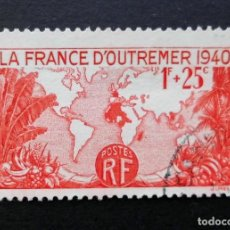 Sellos: FRANCIA 1940, PARA FRANCIA DE ULTRAMAR, USADO. Lote 82348536