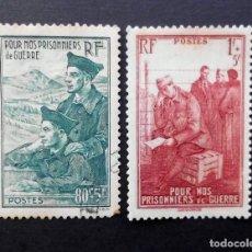 Sellos: FRANCIA 1941, PARA BENEFICIO DE LOS PRISIONEROS DE LA GUERRA,. Lote 82349256