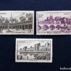 Sellos: FRANCIA 1941, MONUMENTOS Y SITIOS, NUEVOS CON FIJASELLOS. Lote 82351780