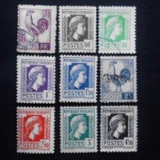Sellos: FRANCIA 1944, SERIE DE ARGEL GALLO Y MARIANA. Lote 82895940