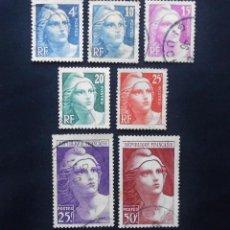 Sellos: FRANCIA 1945 - 1947, MARIANNE DE GANDON. Lote 82898588
