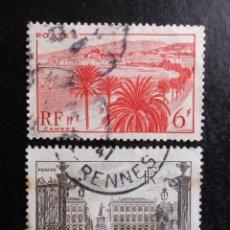 Sellos: FRANCIA 1947, MONUMENTOS Y SITIOS, USADOS. Lote 82981480
