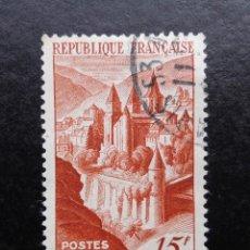 Sellos: FRANCIA 1947, ABADÍA DE CONQUES, (O) . Lote 82997444