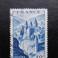 Sellos: FRANCIA 1948, ABADÍA DE CONQUES. Lote 83048896