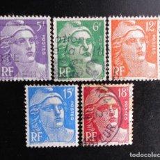 Sellos: FRANCIA 1951, TIPO MARIANNE DE GANDOM (O). Lote 83314948