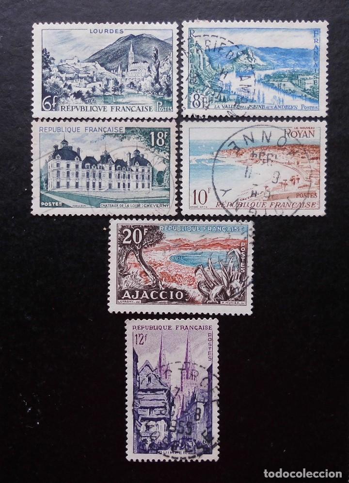 FRANCIA 1954, SERIE TURÍSTICA (O) (Sellos - Extranjero - Europa - Francia)